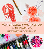 Watercolor Workshop with Jacinda: Newport, RI