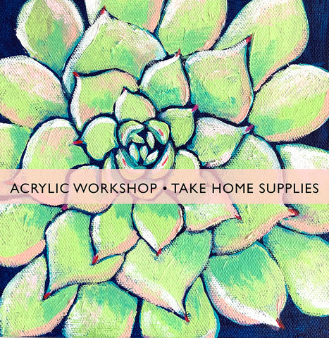 Acrylic Workshop - Keep your supplies (on-site only)