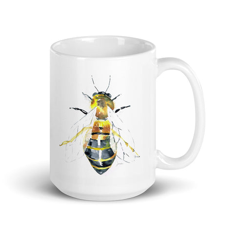 Watercolor Bee Mug