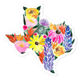 Texas Wildflowers Vinyl Sticker