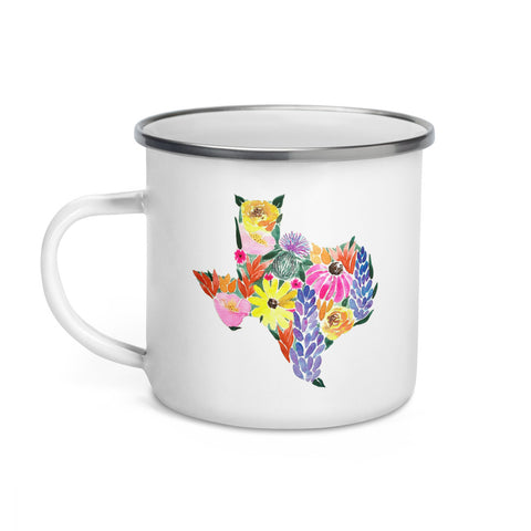 Texas Wildflowers Enamel Mug