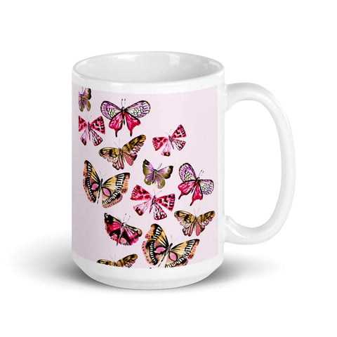 Watercolor Butterfly Mug