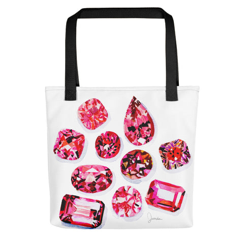 Pink Tourmaline Gems Tote bag