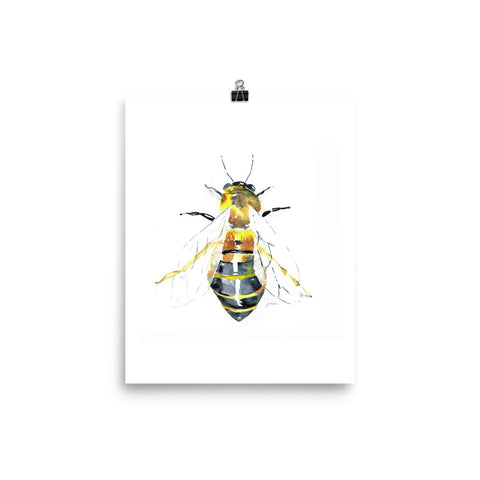 Watercolor Bee Art Print
