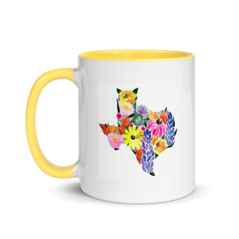 Texas Watercolor Wildflowers Mug