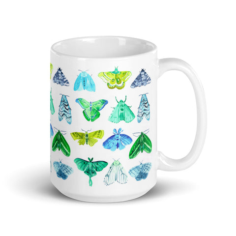 Watercolor Moths Mug