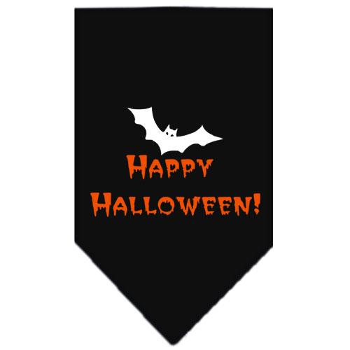 Happy Halloween Screen Print Bandana Black Large