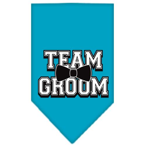 Team Groom Screen Print Bandana Turquoise Small