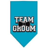 Team Groom Screen Print Bandana Turquoise Large