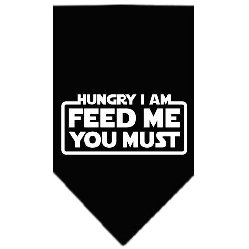 Hungry I Am Screen Print Bandana Black Large