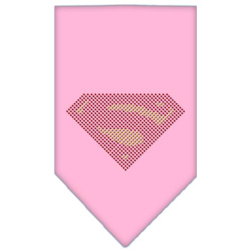 Super! Rhinestone Bandana Light Pink Small
