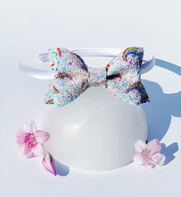 Load image into Gallery viewer, Rainbow Glitter Bow