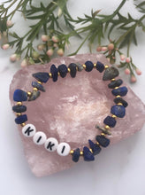Load image into Gallery viewer, Sodalite Personalised Bracelet