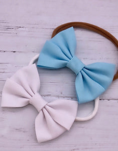 Frozen Inspired Bias Bow