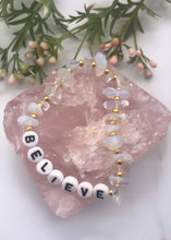 Load image into Gallery viewer, Clear Opalite Personalised Bracelet