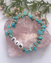 Load image into Gallery viewer, Turquoise Personalised Bracelet