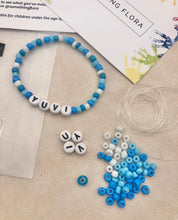 Load image into Gallery viewer, Blue & White - DIY Personalised Bracelet Kit