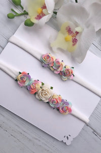 Limited Edition Rainbow Flower Headband