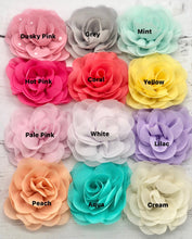 Load image into Gallery viewer, Coral / Mint / Lilac Shades - Chiffon Flower Bow