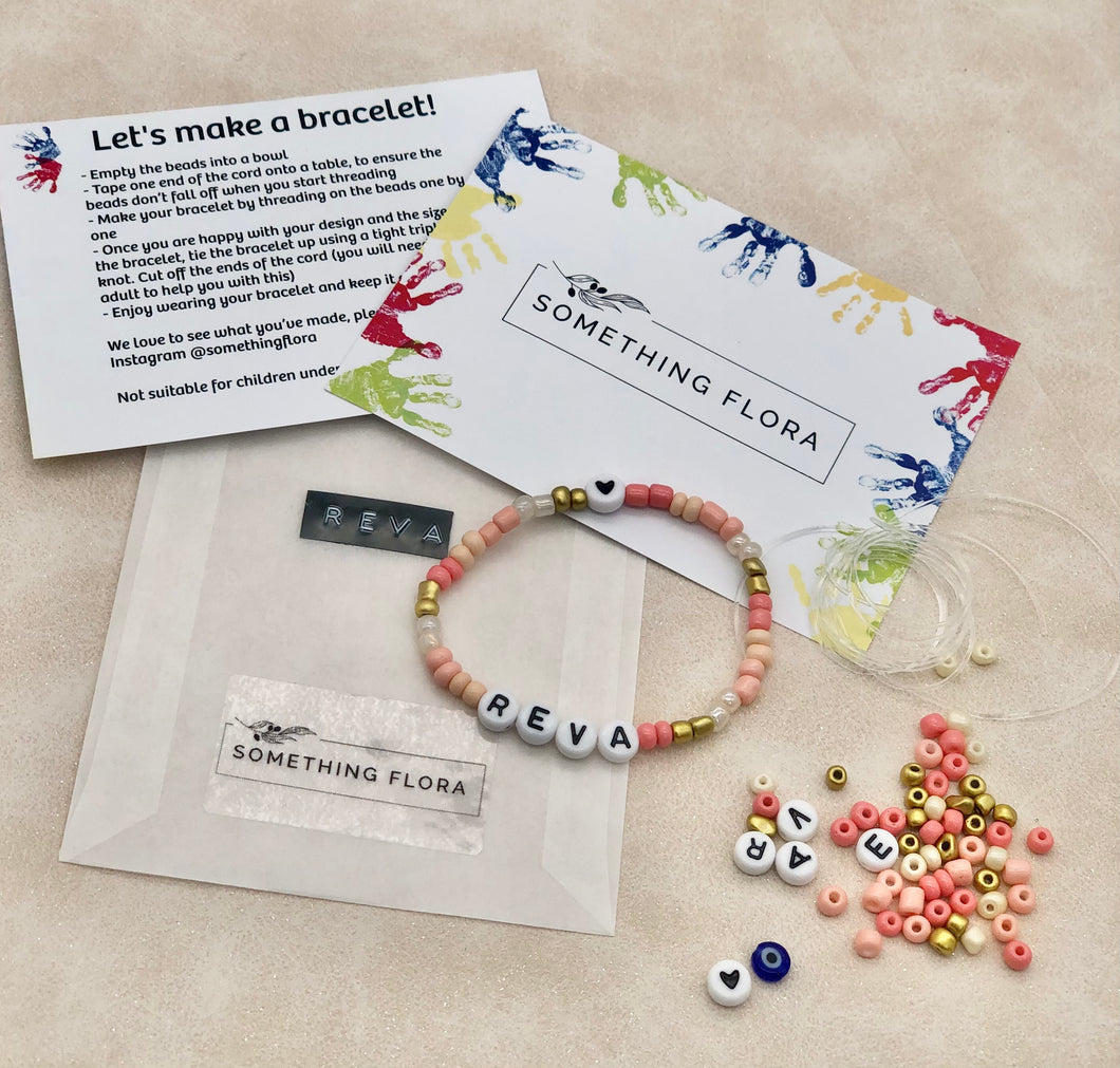 Peach - DIY Personalised Bracelet Kit