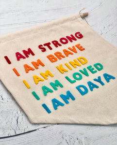 I AM Statements Felt Wall Banner