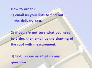 [900] How to order the spouting  +  delivery cost