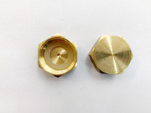 [221] Brass Female End Cap 20mm - NZ Pipe