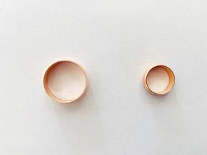 [701] Copper olive ring 15mm