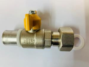 [833] Gas swivel ball valve 20mm
