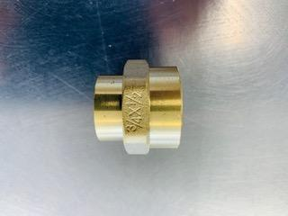 [309] Brass Female 15mm/ female 20mm Reducing sockets - NZ Pipe