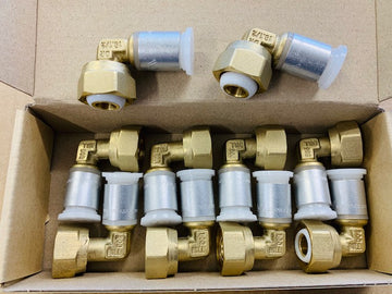 10 x Brass Swivel Elbow (free shipping)