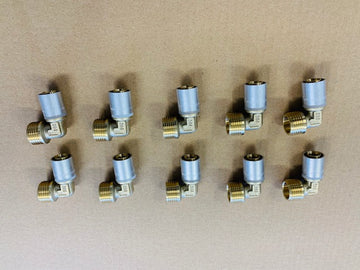 10 x Brass Male Elbow (free shipping)