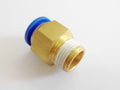 [555] PC -- male connector   10mm - 1/8
