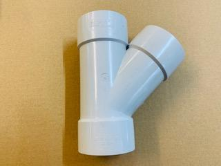 [1114] PVC 80mm Y juction 45 degree