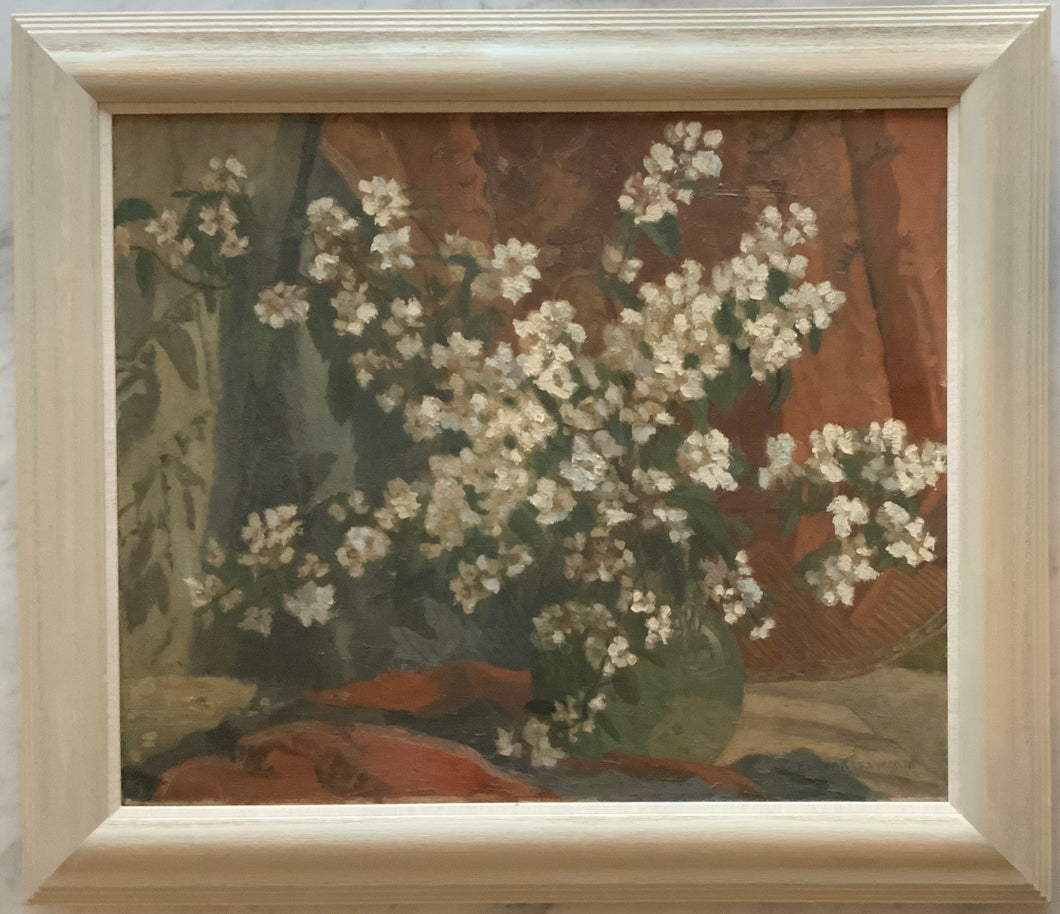 Large oil painting on canvas: Orange blossom (E. Charlesworth)