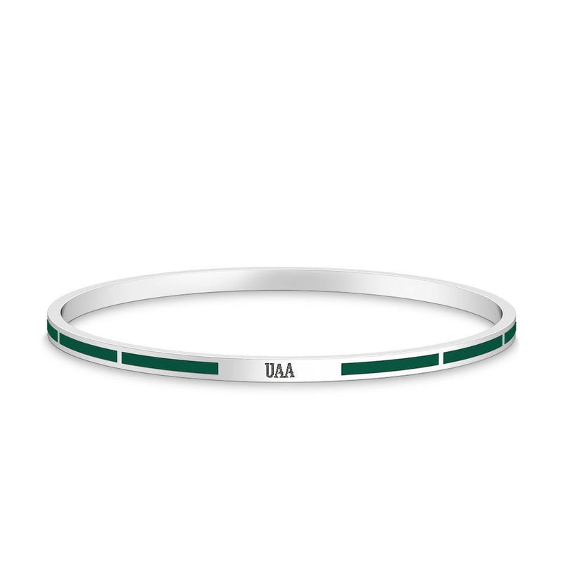 UAA Engraved Enamel Bracelet in Green Size L