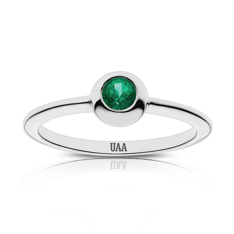 UAA Engraved Emerald Ring Size 6