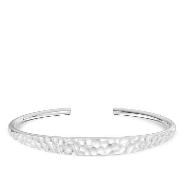 Hammered Finish Fine Bangle