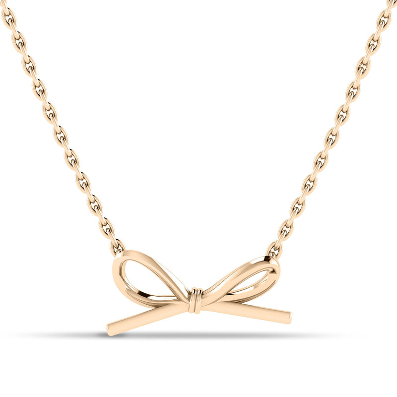 Butterfly Bow Pendant in 14K Yellow Gold