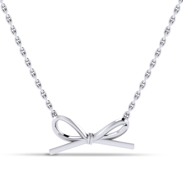 Butterfly Bow Pendant in Sterling Silver