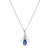 Diamond & Sapphire Wing Pendant in 14K White Gold