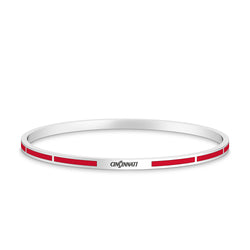 Cincinnati Engraved Enamel Bracelet in Red Size M