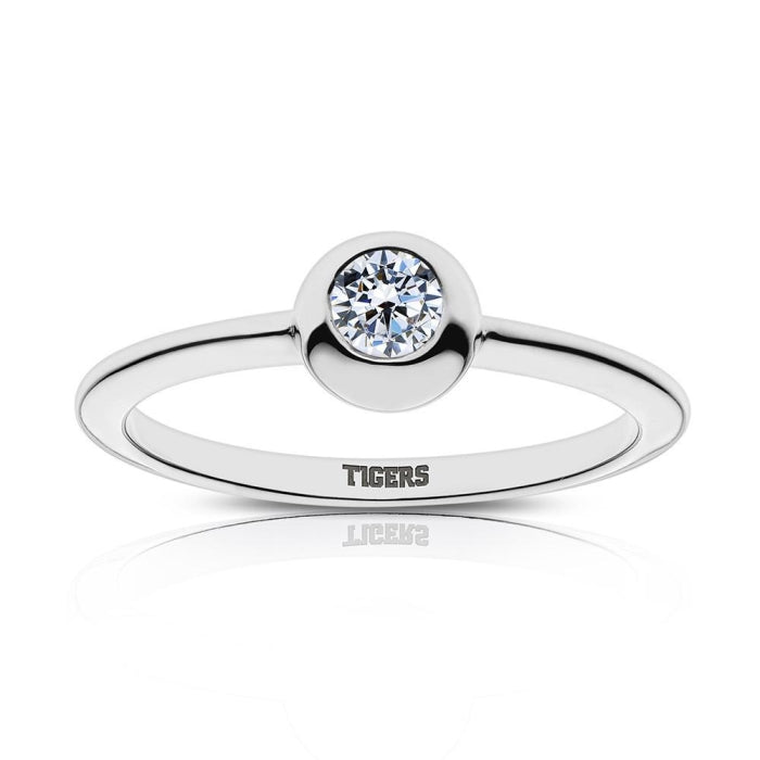 Tigers Engraved Diamond Ring Size 4