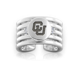 Buffs Logo Engraved Multiband Cuff Ring Size 9