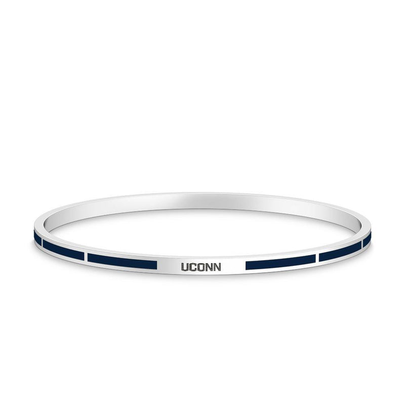 UCONN Engraved Enamel Bracelet in Dark Blue Size S