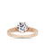 Mazarine Engagement Ring in 14K Rose Gold