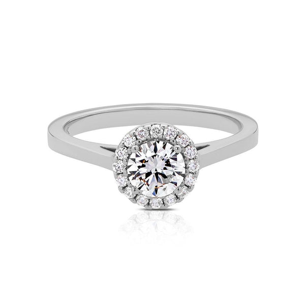 Bloom Engagement Ring in 14K White Gold