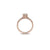 Hazel Engagement Ring in 14K Rose Gold