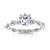 Ivy Engagement Ring in 14K White Gold