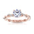 Ivy Engagement Ring in 14K Rose Gold